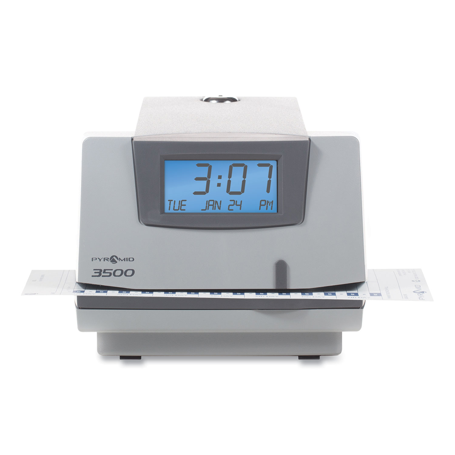 Picture of 3500 Time Clock and Document Stamp, Light Gray/Charcoal