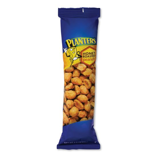 Picture of Honey Roasted Peanuts, 2.5 oz Tube, 15/Box