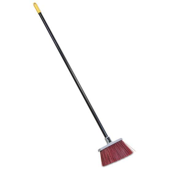 "Picture of Bulldozer Landscaper's Upright Broom, 48"" Handle, 4"" Bristles, Red/Gray"