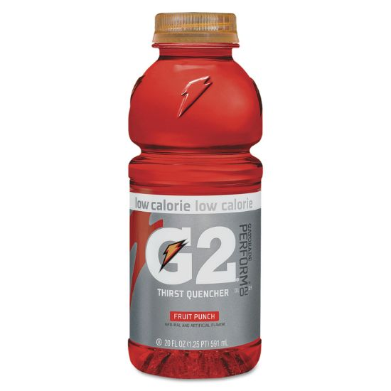 Picture of G2 Perform 02 Low-Calorie Thirst Quencher, Fruit Punch, 20 oz Bottle, 24/Carton