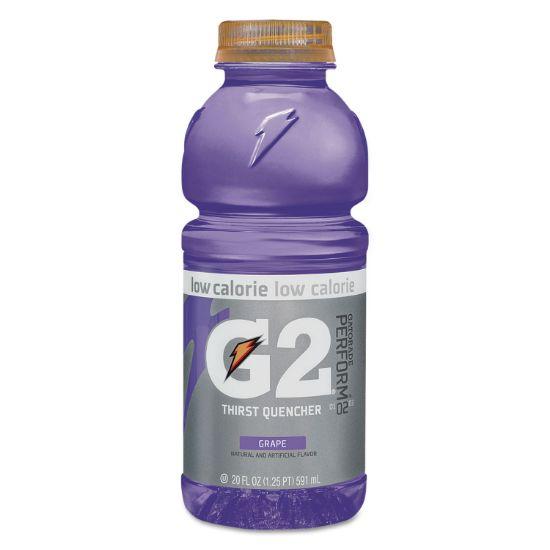 Picture of G2 Perform 02 Low-Calorie Thirst Quencher, Grape, 20 oz Bottle, 24/Carton