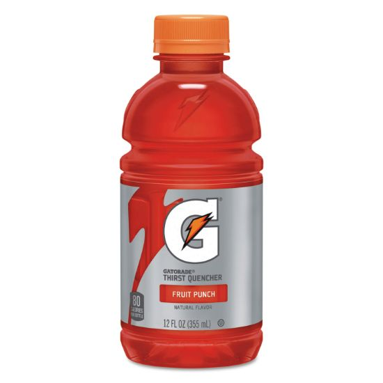 Picture of G-Series Perform 02 Thirst Quencher, Fruit Punch, 12 oz Bottle, 24/Carton