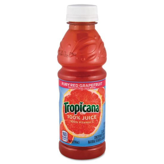 Picture of 100% Juice, Ruby Red Grapefruit, 10oz Bottle, 24/Carton