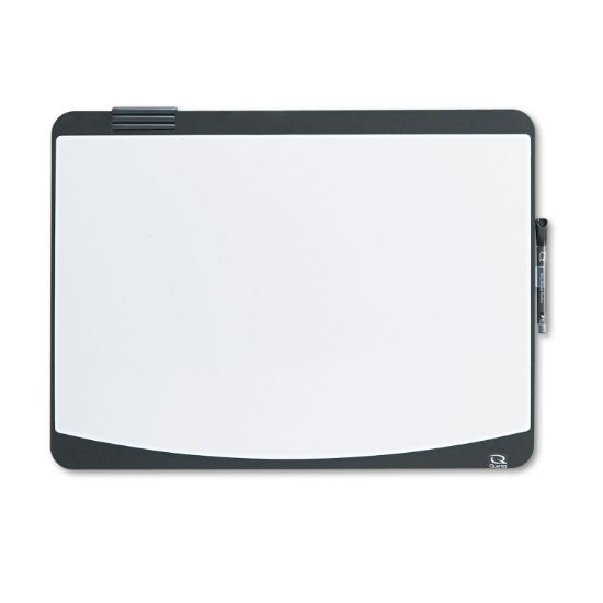 Picture of Tack & Write Board, 23 1/2 x 17 1/2, Black/White Surface, Black Frame