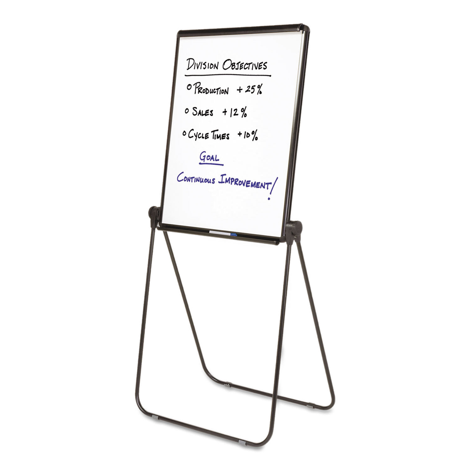 Picture of Ultima Presentation Easel, 27 x 34, White Surface, Black Frame