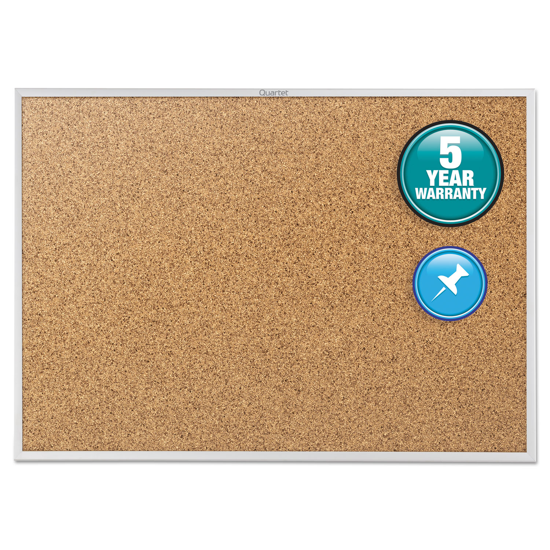 Picture of Classic Series Cork Bulletin Board, 24 x 18, Silver Aluminum Frame