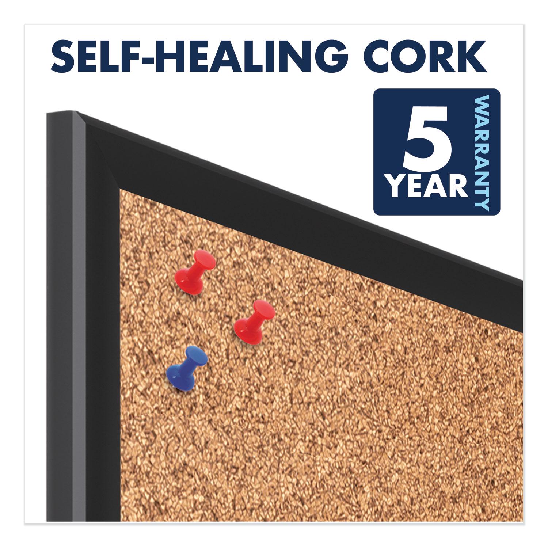 Picture of Classic Series Cork Bulletin Board, 24x18, Black Aluminum Frame