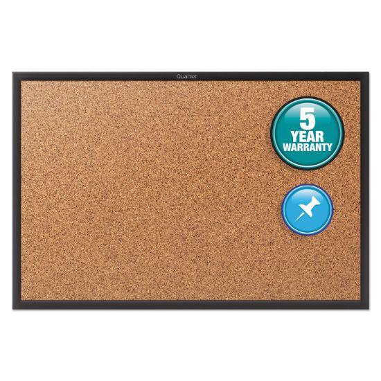 Picture of Classic Series Cork Bulletin Board, 36x24, Black Aluminum Frame