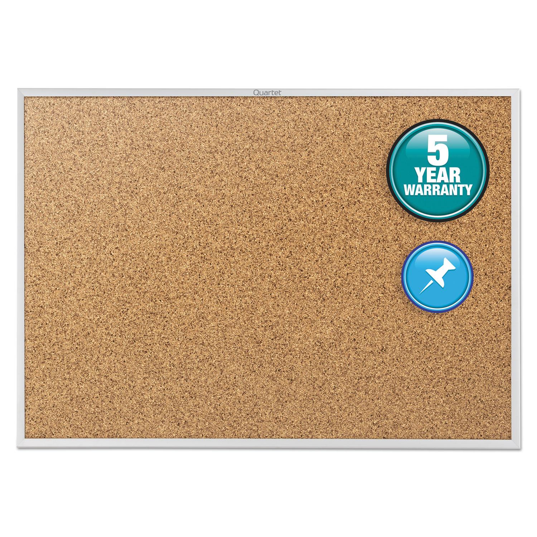 Picture of Classic Series Cork Bulletin Board, 48 x 36, Silver Aluminum Frame