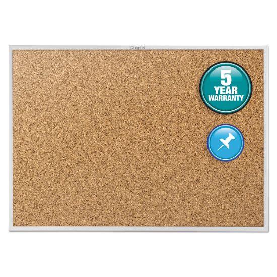 Picture of Classic Series Cork Bulletin Board, 60 x 36, Silver Aluminum Frame