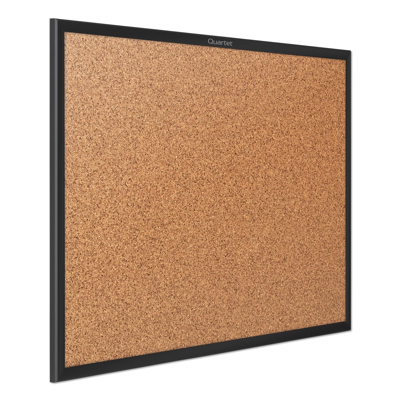 Picture of Classic Series Cork Bulletin Board, 60x36, Black Aluminum Frame