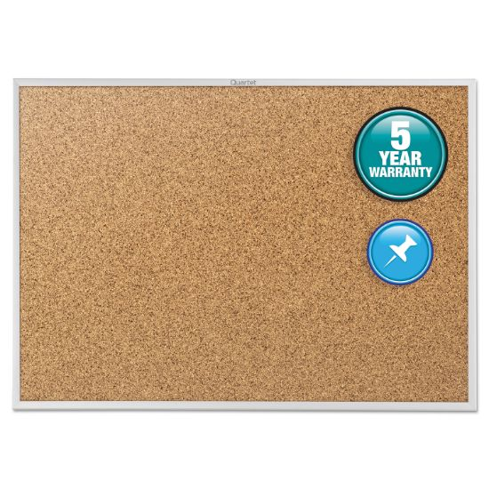 Picture of Classic Series Cork Bulletin Board, 72 x 48, Silver Aluminum Frame