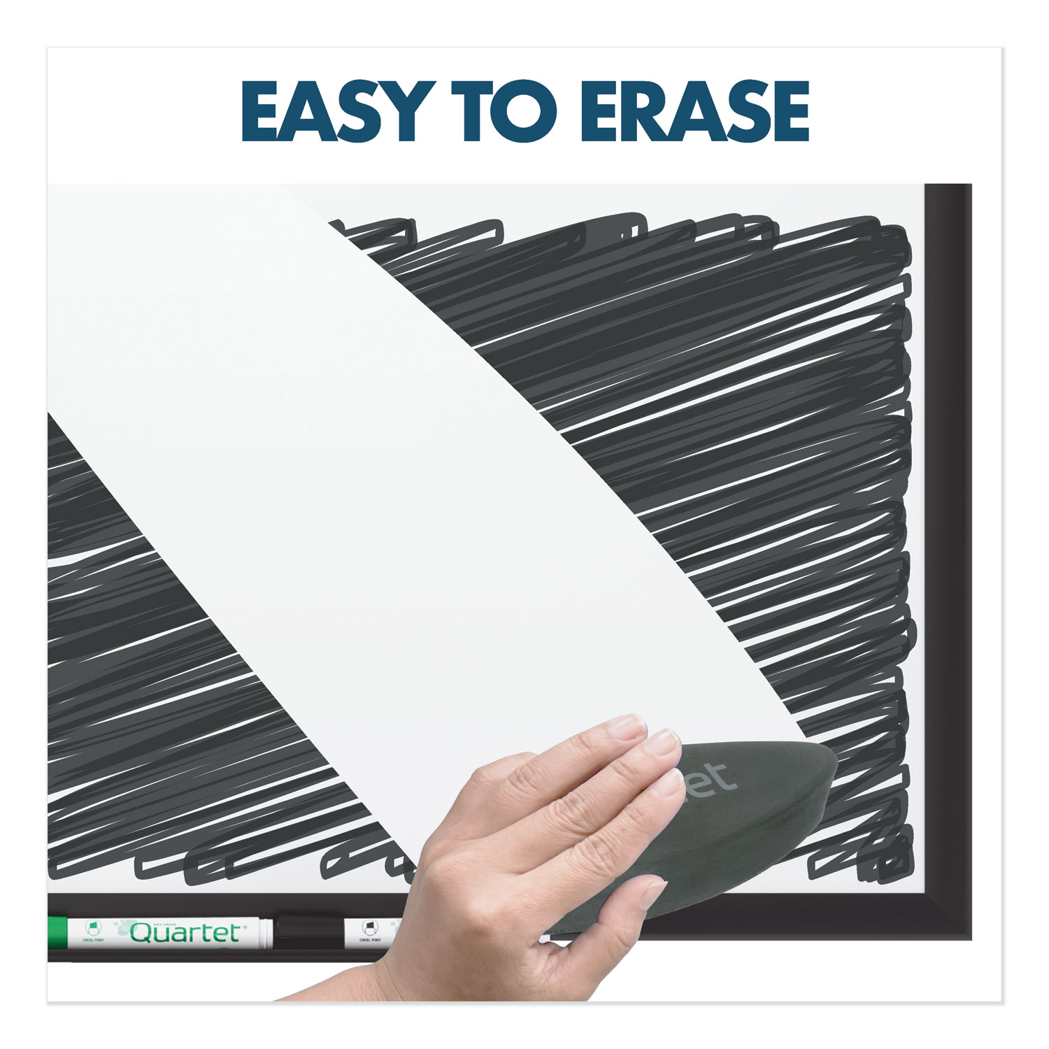 Picture of Classic Porcelain Magnetic Whiteboard, 36 x 24, Black Aluminum Frame