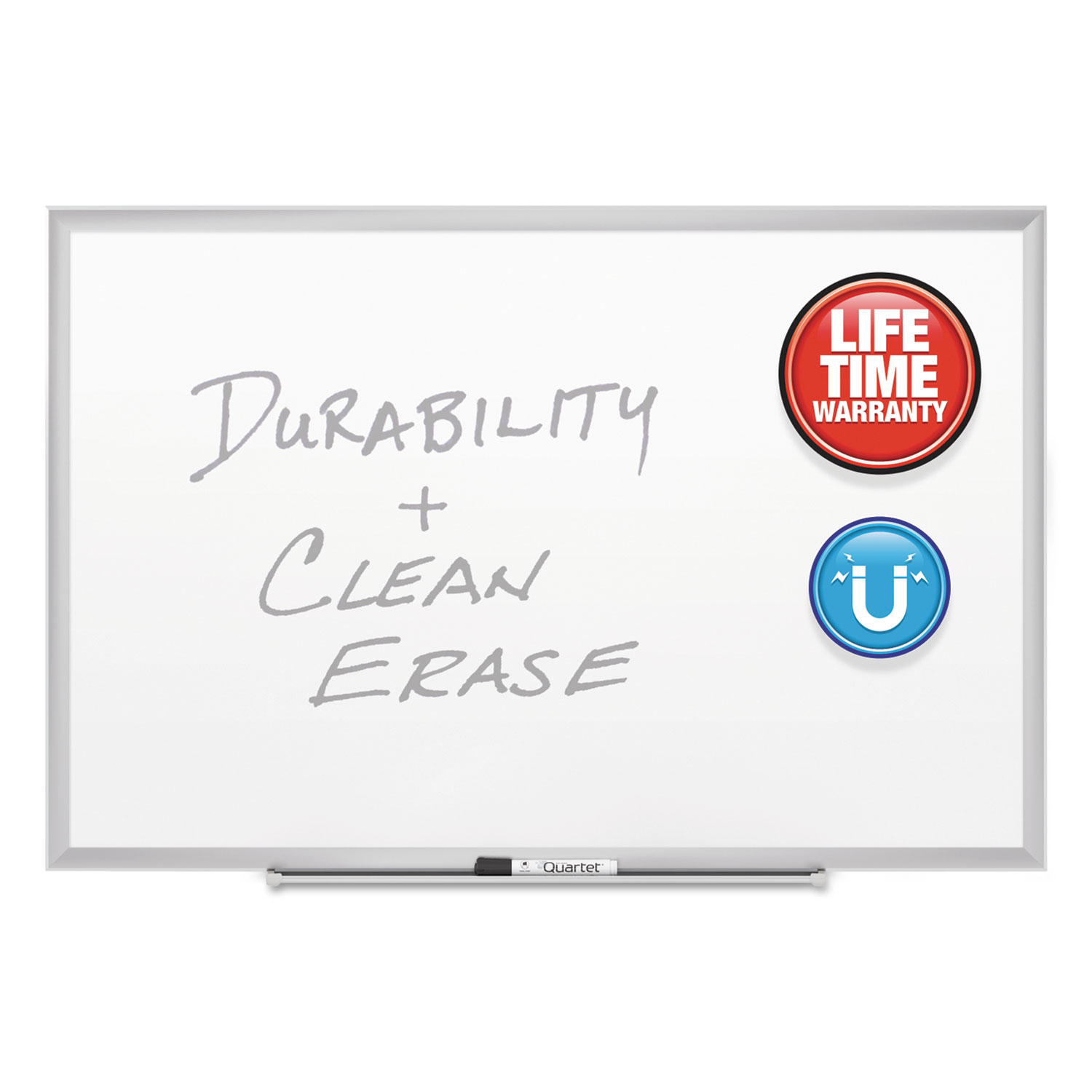 Picture of Classic Series Porcelain Magnetic Board, 72 x 48, White, Silver Aluminum Frame