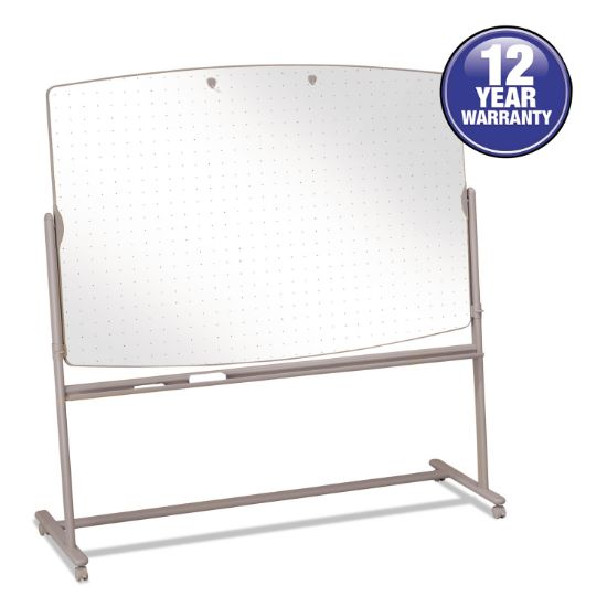 Picture of Total Erase Reversible Mobile Easel, 72 x 48, White Surface, Neutral Frame