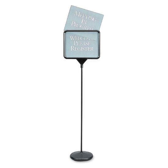 Picture of Sign(ware) Pedestal Sign, 14 x 11, Assorted Signage, Black Frame