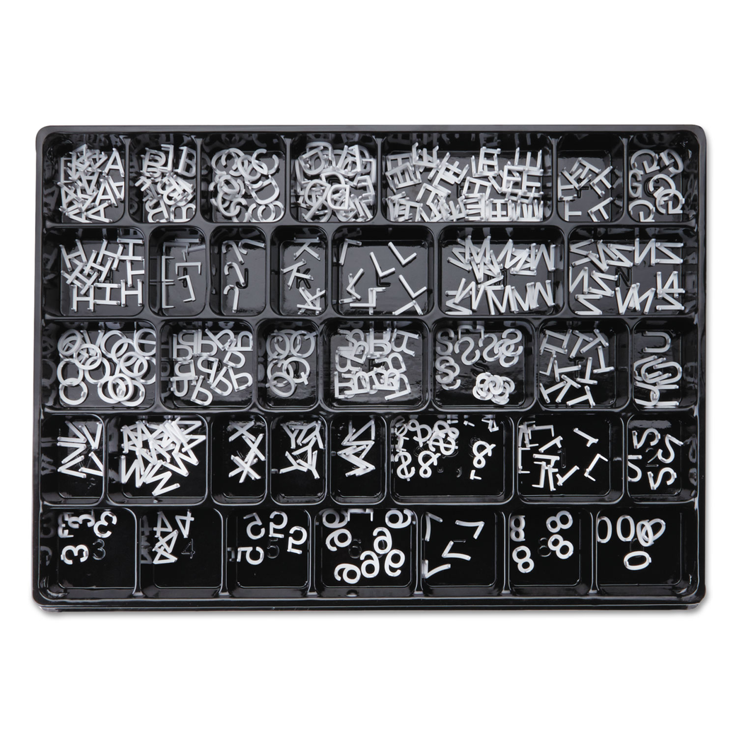 """Picture of Character Sets, Pin, White, 1""""h, 300/Set"""