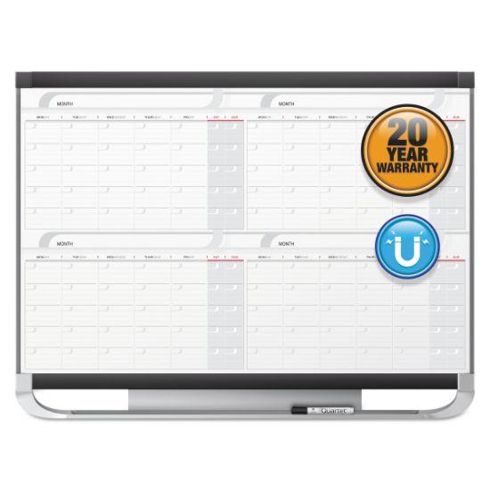 Picture of Prestige 2 Magnetic Total Erase 4-Month Calendar, 36 x 24, Graphite Color Frame