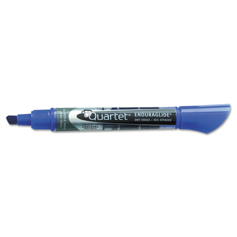 Picture of EnduraGlide Dry Erase Marker, Broad Chisel Tip, Blue, Dozen