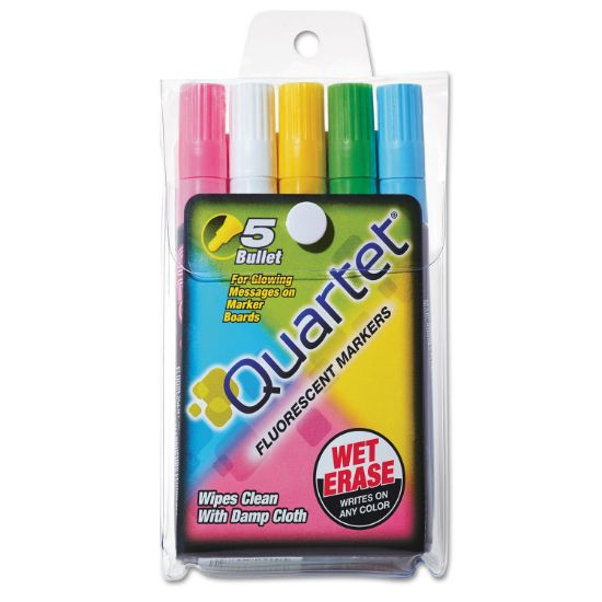 Picture of Glo-WriteFluorescent Marker Five-Color Set, Medium Bullet Tip, Assorted Colors, 5/Set
