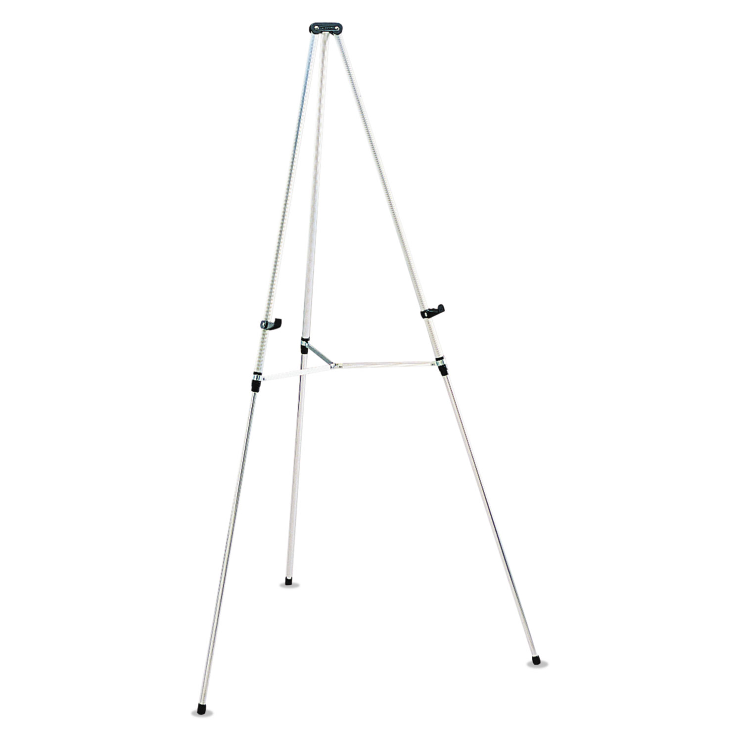 """Picture of Lightweight Telescoping Tripod Easel, 38"""" to 66"""" High, Aluminum, Silver"""