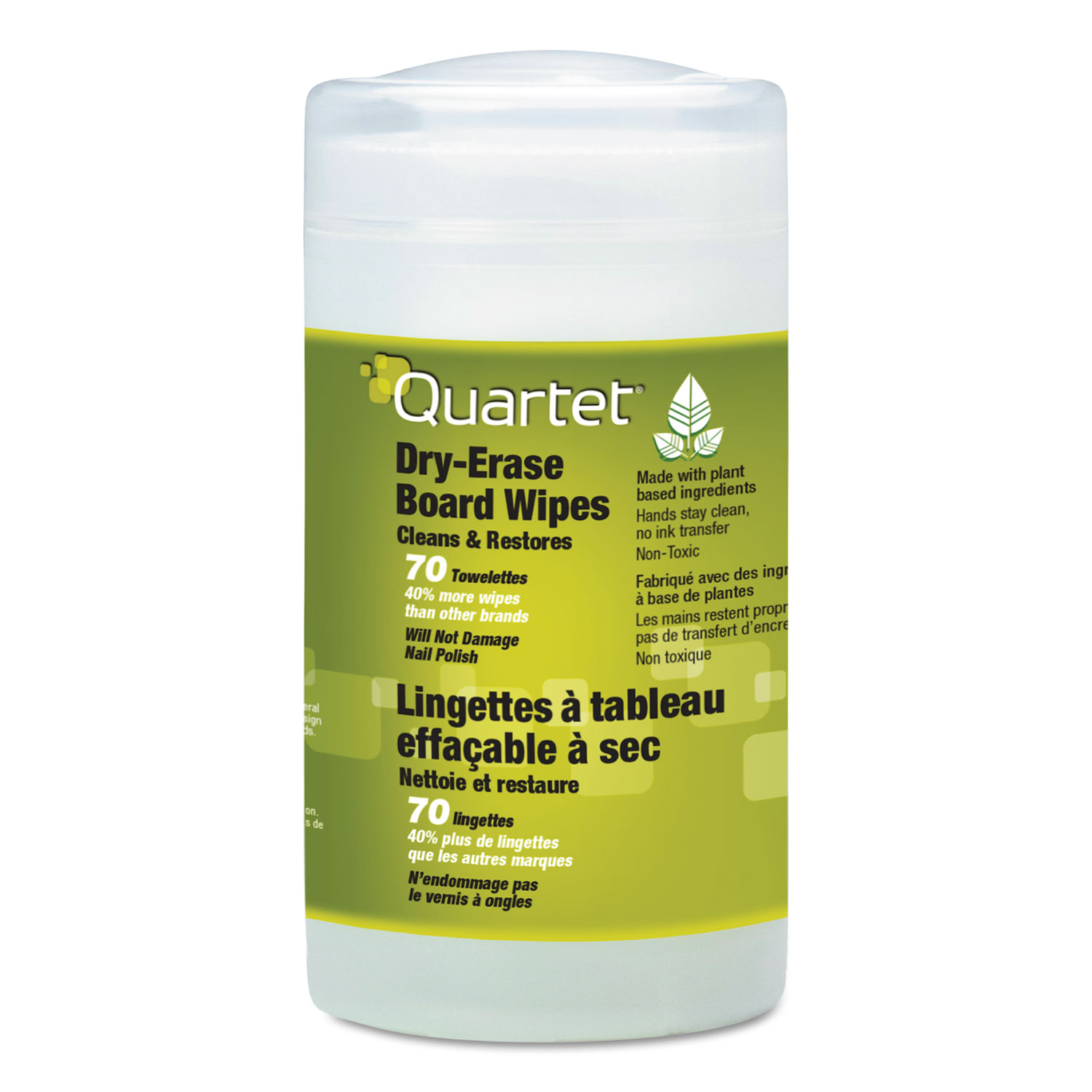 Picture of Board Wipes Dry Erase Cleaning Wipes, Cloth, 7 x 8, 70/Tub