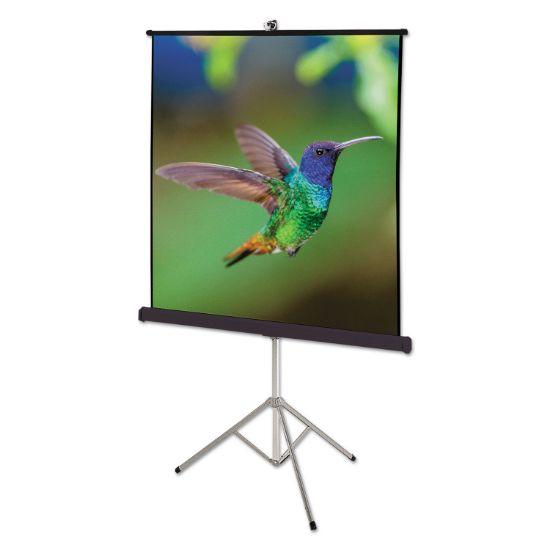 Picture of Portable Tripod Projection Screen, 60 x 60, White Matte, Black Steel Case