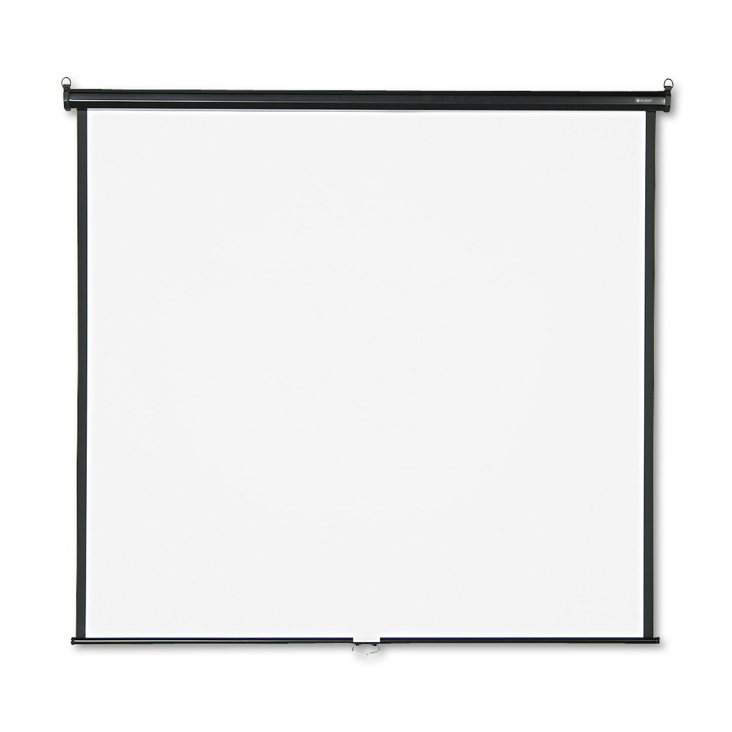 Picture of Wall or Ceiling Projection Screen, 70 x 70, White Matte, Black Matte Casing