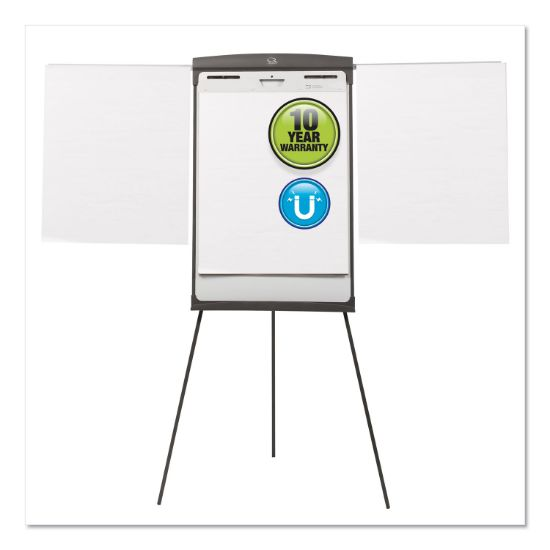 Picture of Magnetic Dry Erase Easel, 27 x 35, White Surface, Graphite Frame