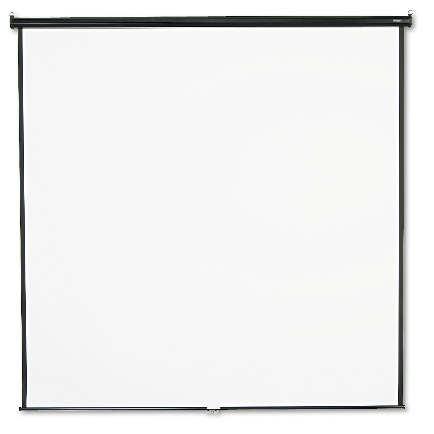Picture of Wall or Ceiling Projection Screen, 96 x 96, White Matte, Black Matte Casing