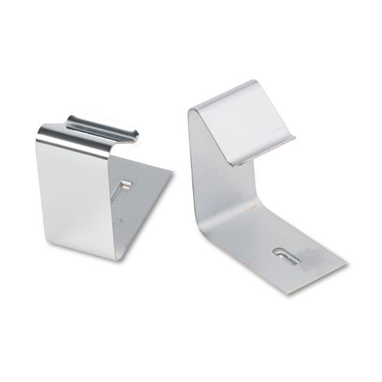 "Picture of Flexible Metal Cubicle Hangers, 1 1/2"" - 2 1/2"" Panels, Silver, 2/Set"