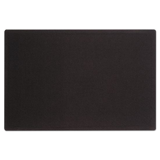 Picture of Oval Office Fabric Bulletin Board, 48 x 36, Black