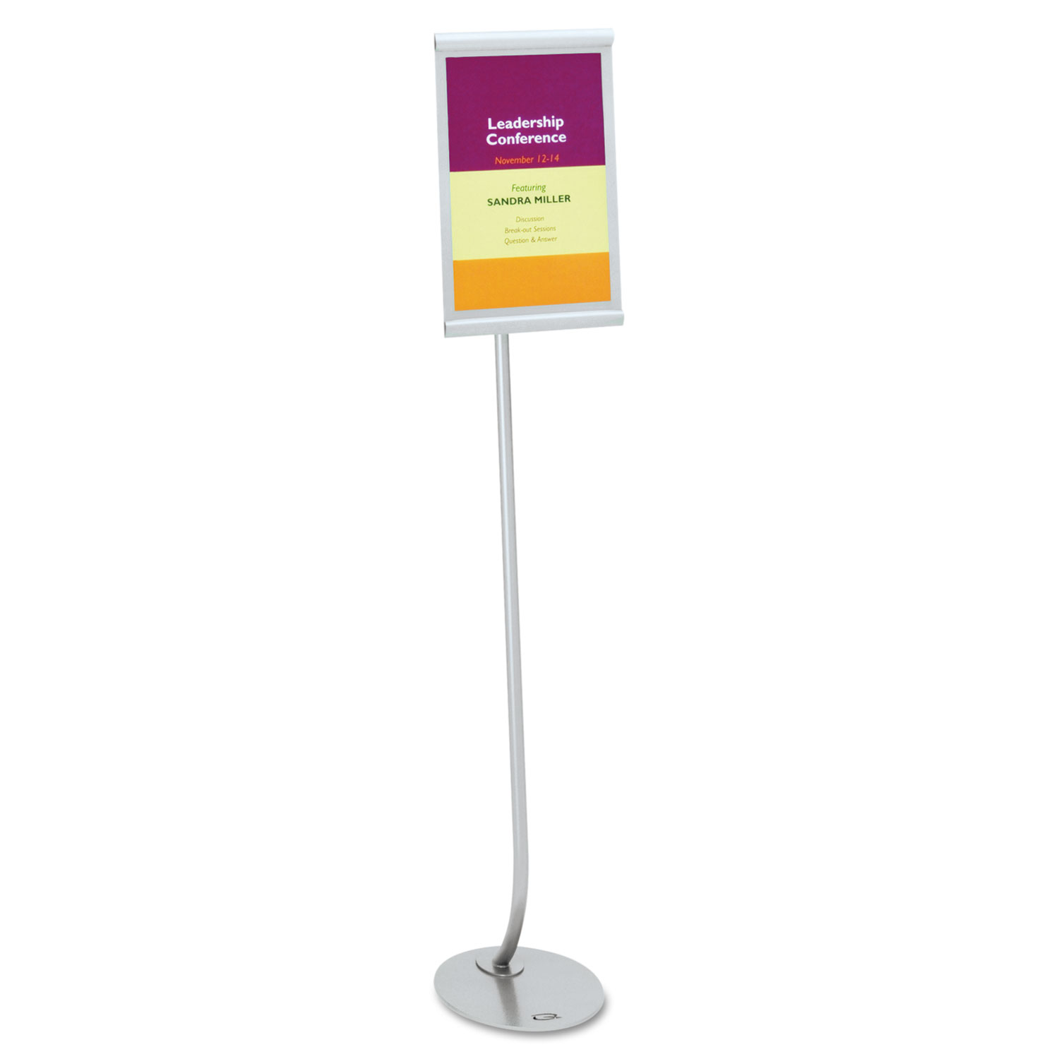 Picture of Designer Sign Stand, Silver Aluminum Frame, 11 x 17