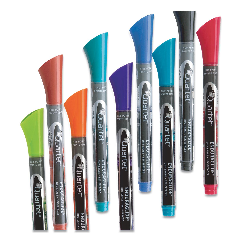 Picture of EnduraGlide Dry Erase Marker, Fine Bullet Tip, Assorted Colors, Dozen