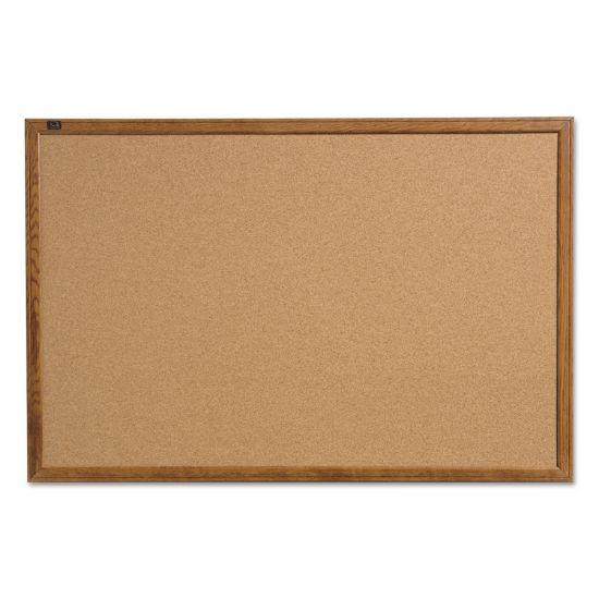 Picture of Cork Bulletin Board, 17 x 23, Oak Finish Frame