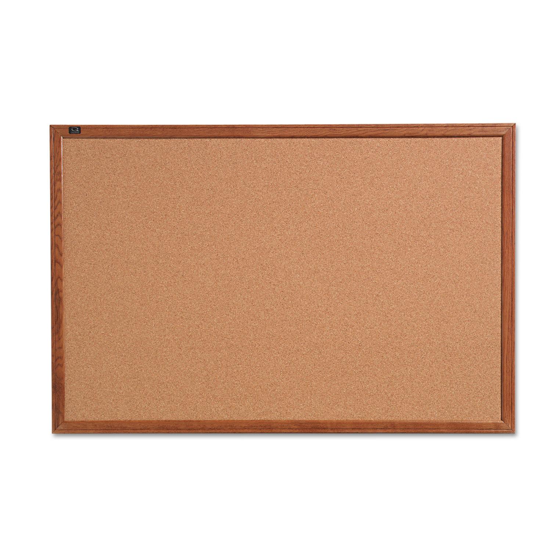 Picture of Cork Bulletin Board, 36 x 24, Oak Finish Frame