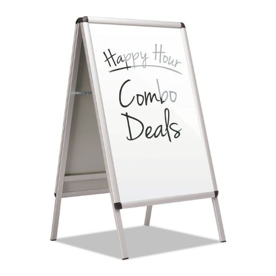 Picture of Improv A-Frame Sign with Total Erase Surface, Aluminum, 28 1/2w x 42h, Silver