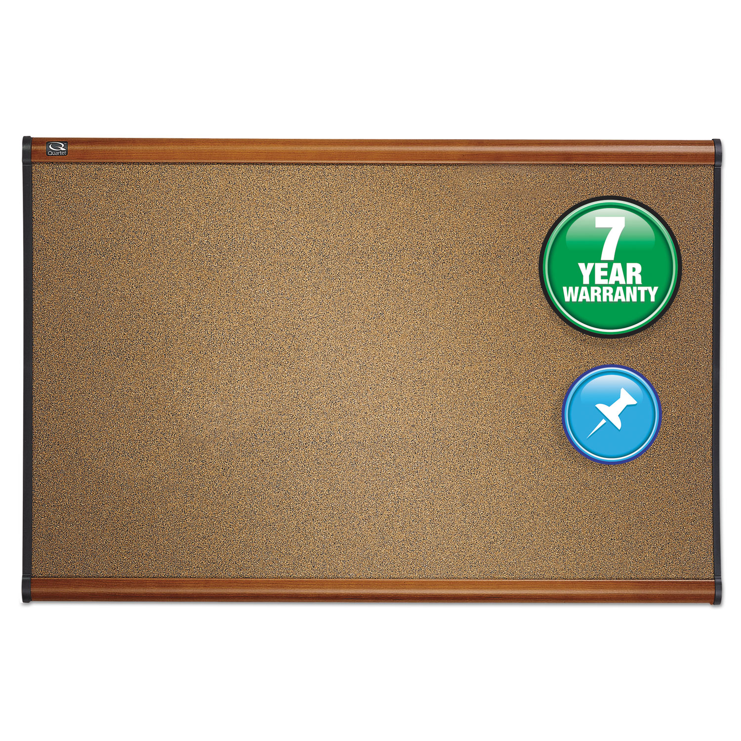 Picture of Prestige Bulletin Board, Brown Graphite-Blend Surface, 72 x 48, Cherry Frame