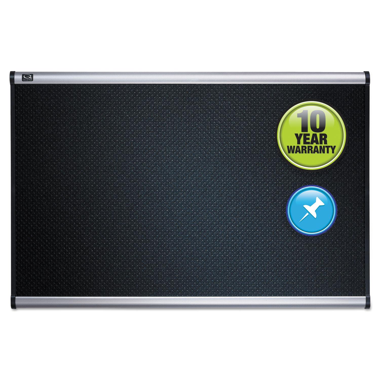 Picture of Prestige Embossed Foam Bulletin Board, 48 x 36, Black, Aluminum Frame