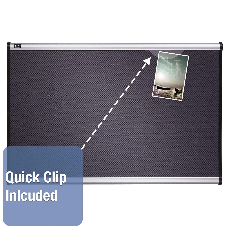 Picture of Prestige Bulletin Board, Diamond Mesh Fabric, 48 x 36, Gray/Aluminum Frame