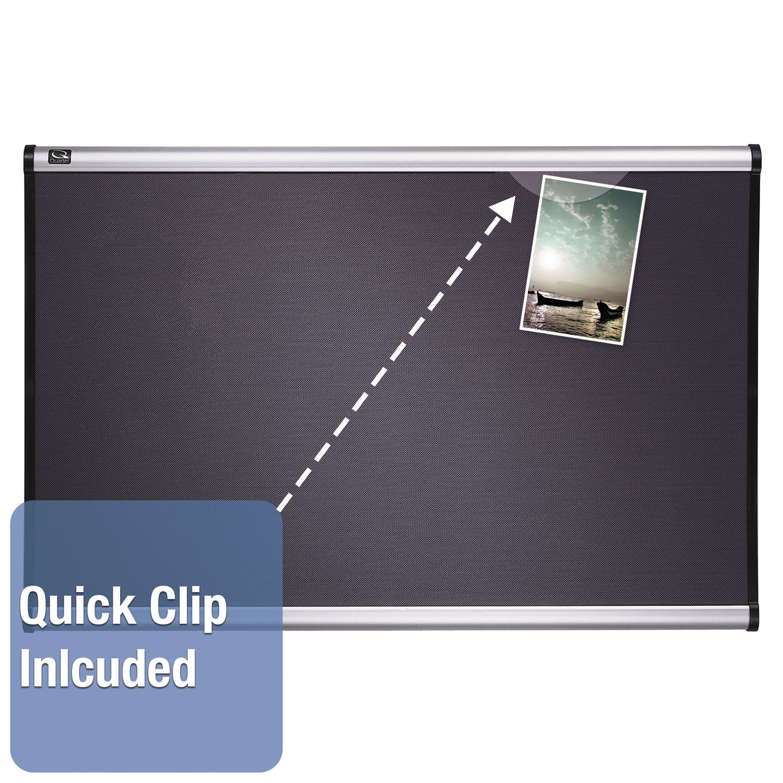 Picture of Prestige Bulletin Board, Diamond Mesh Fabric, 72 x 48, Gray/Aluminum Frame