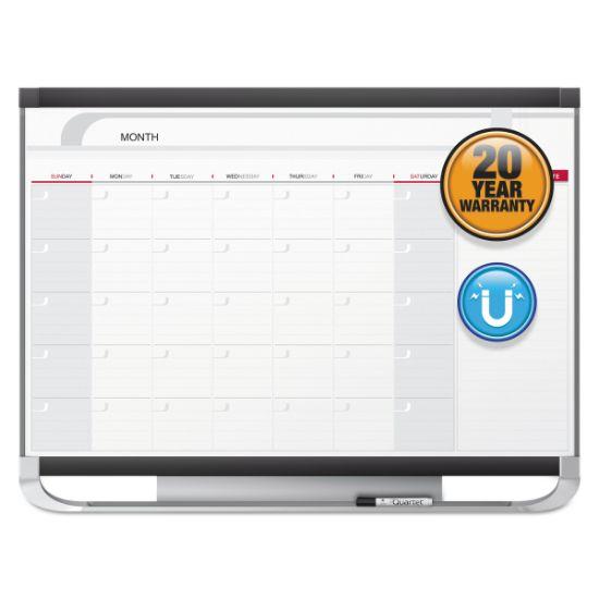 Picture of Prestige 2 Magnetic Total Erase Monthly Calendar, 36 x 24, Graphite Color Frame