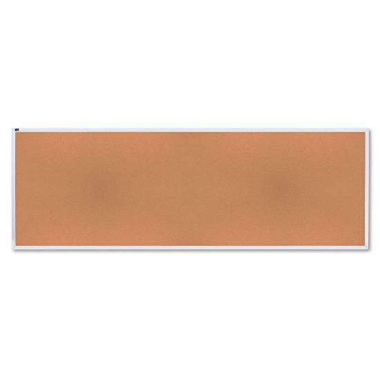 Picture of Natural Cork Bulletin Board, 144 x 48, Anodized Aluminum Frame