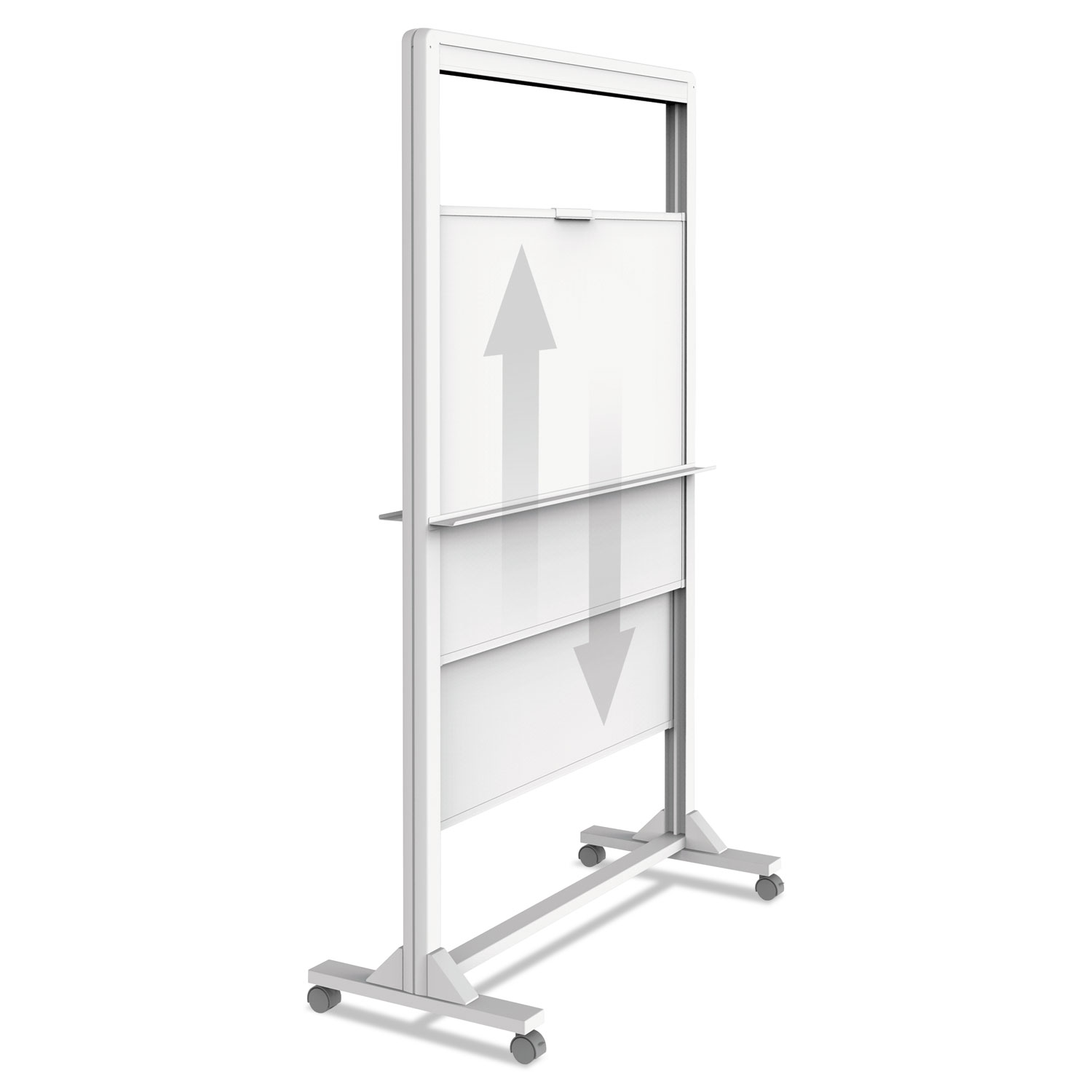 Picture of Motion Dual-Track Mobile Magnetic Dry-Erase Easel, Two 40 1/2 x 34 Panels, White