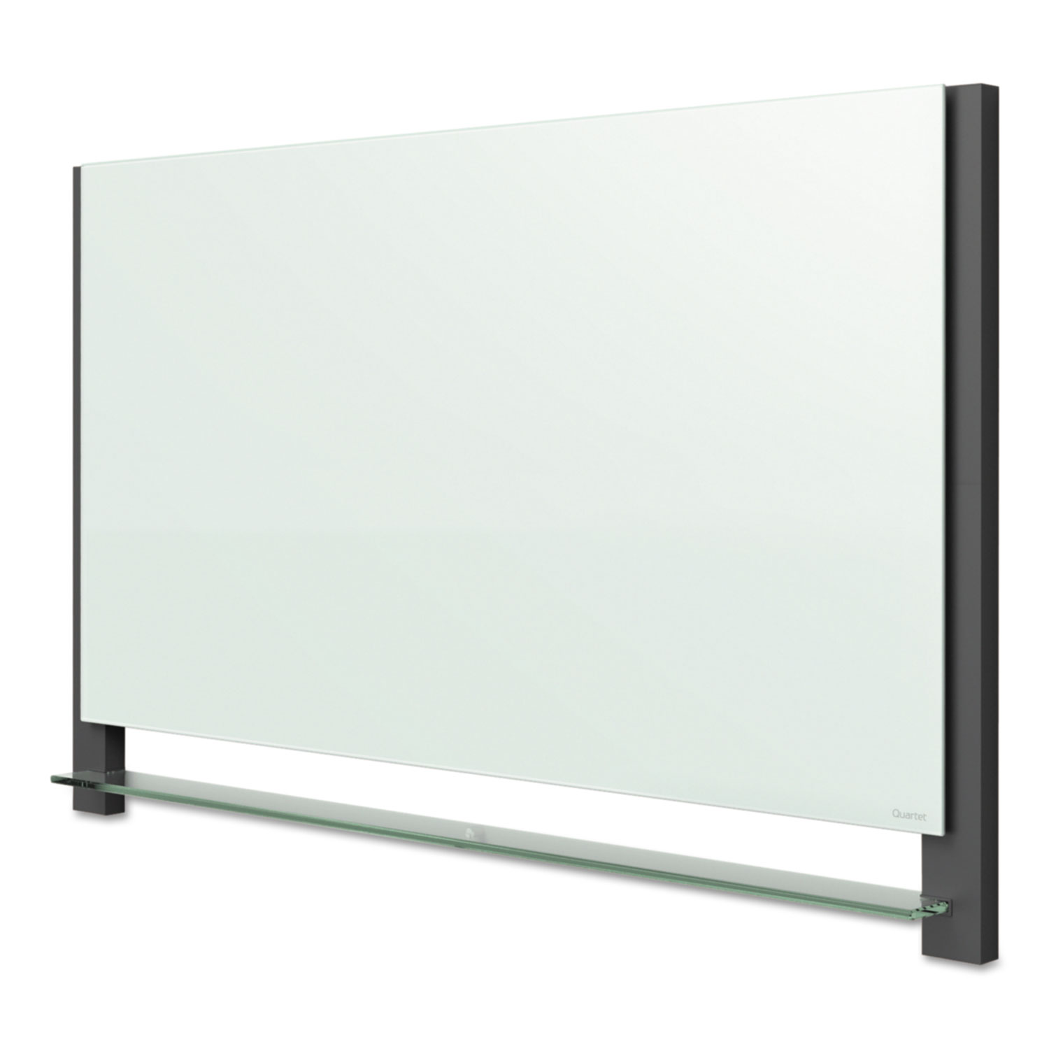 Picture of Evoque Magnetic Glass Marker Board with Black Aluminum Frame, 74 x 42, White