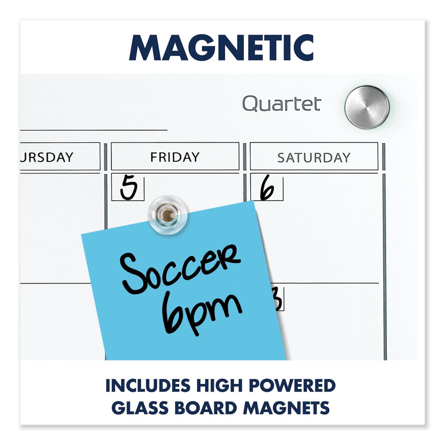 Picture of Infinity Magnetic Glass Calendar Board, 48 x 36
