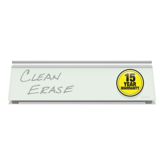 Picture of Glass Dry Erase Desktop Computer Pad, 18 x 6, White