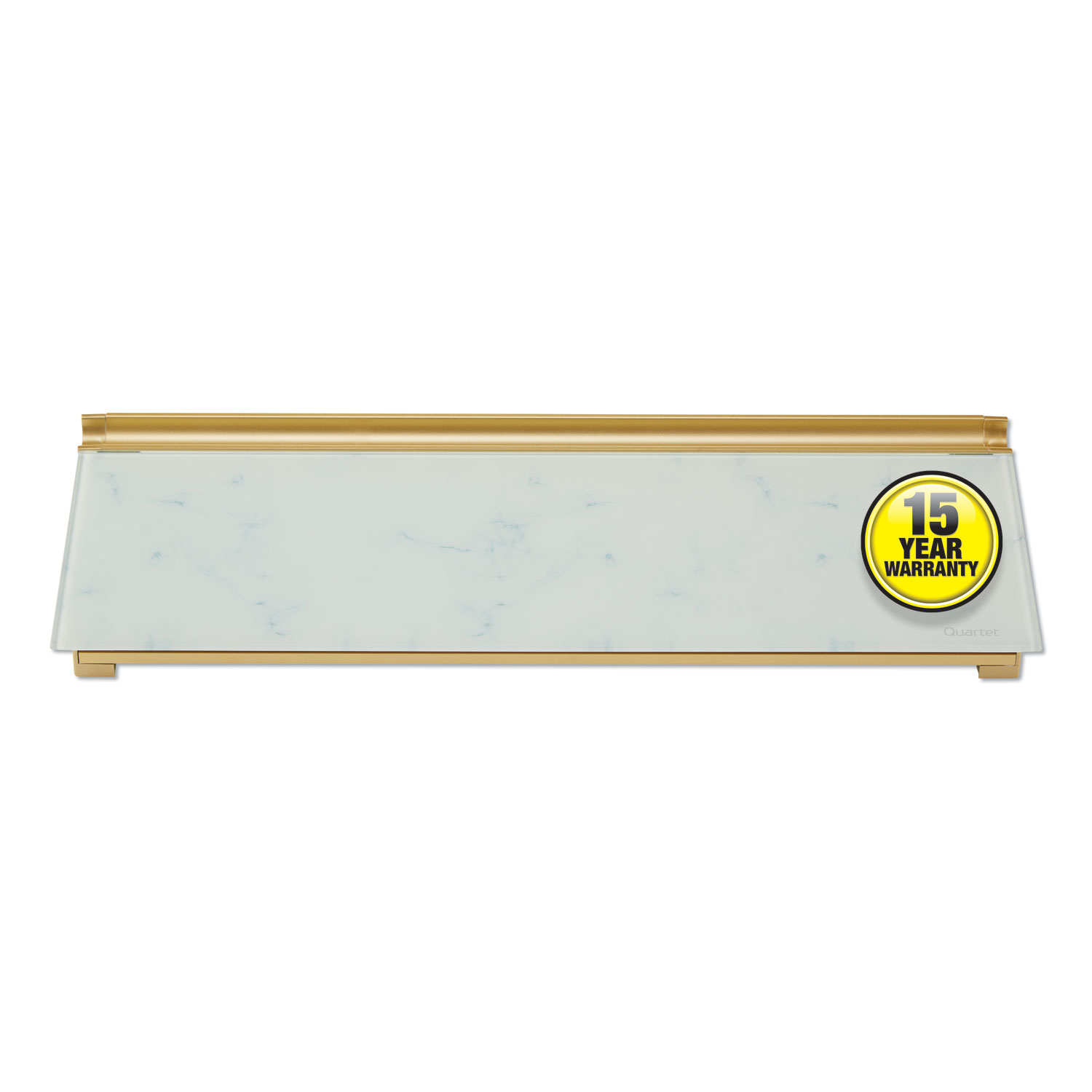 Picture of Glass Dry Erase Desktop Computer Pad, 18 x 6, Marble