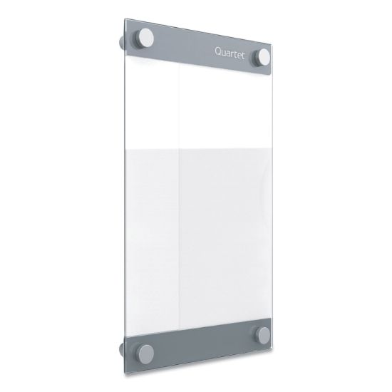 Picture of Infinity Customizable Magnetic Glass Dry-Erase Board, 8.5 x 11, White