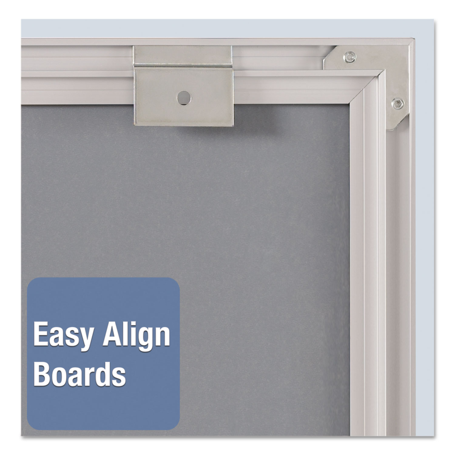 Picture of Matrix Magnetic Boards, Painted Steel, 16 x 16, White, Aluminum Frame